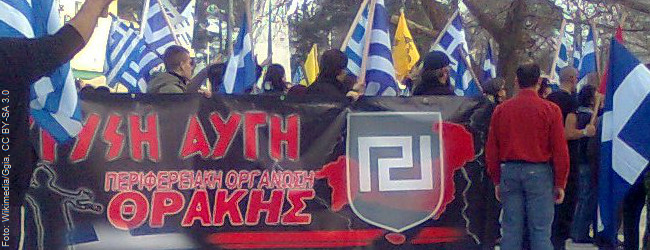 Schauprozeß in Athen: 13 Jahre Haft für Parteichef der Goldenen Morgenröte