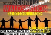 (Video) Sebnitz: Wir helfen beim Grenzbau – 4. Oktober 2015