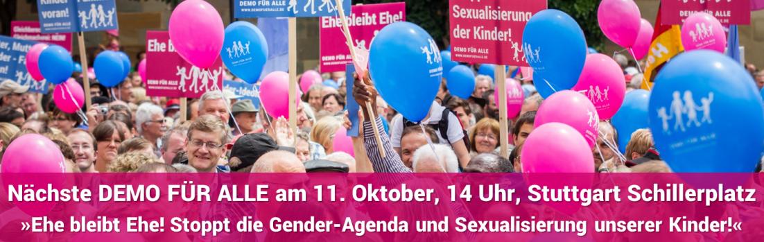 """Gender-Mainstreaming: """"Demo für alle"""" geht heute in die nächste Runde"""