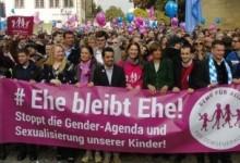 Gender-Ideologie: über 5.000 demonstrierten gegen Frühsexualisierung und linksgrüne Politik