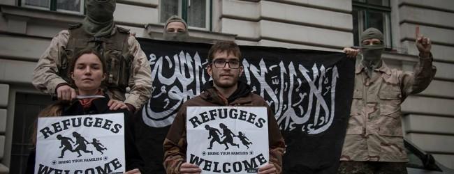 Wien: drastische Protestaktion gegen offene Grenzen und Terrorgefahr