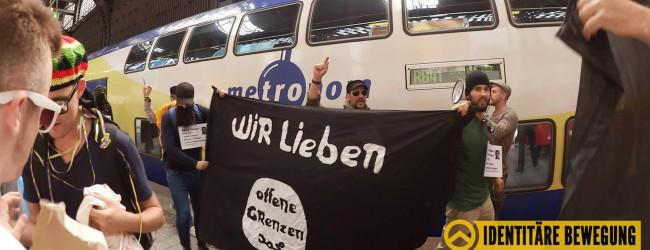 """Identitäre Bewegung: Aktionen auf Bahnhöfen gegen """"Willkommenskultur"""""""