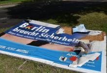 Wegen Zerstörung von Plakaten der Konkurrenz: Ermittlungen gegen Linken-Kandidaten