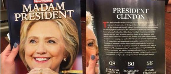 """Prominenter Fall von Realitätsblindheit: """"Newsweek"""" macht mit Clinton-Titelseite auf"""