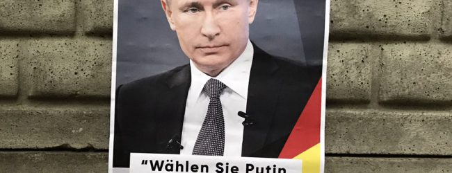 Wahlkampf skurril – In Berlin sorgen Putin-Wahlplakate für Aufsehen