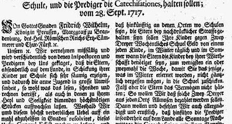 Soldatenkönig mal anders – Vor 300 Jahren führte Preußen die Schulpflicht ein