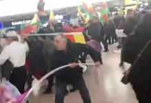 Krawalle am Flughafen Hannover: Türken und Kurden liefern sich Massenschlägerei