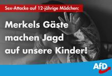 Nach Sex-Attacken auf junge Mädchen: AfD kritisiert Asylpolitik der Kanzlerin aufs schärfste