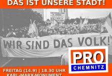 Bürgerproteste in Chemnitz: über 5.000 Teilnehmer an Freitagsdemo gegen Ausländergewalt