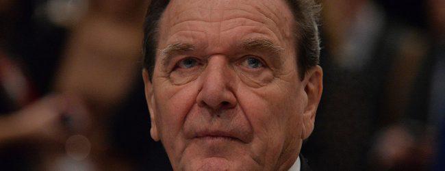 Streit um Nord Stream 2: Altkanzler Schröder plädiert für Gegensanktionen