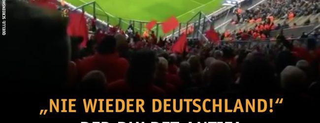 """Linksradikaler St.-Pauli-Mob skandiert in Dresden """"Nie wieder Deutschland"""""""